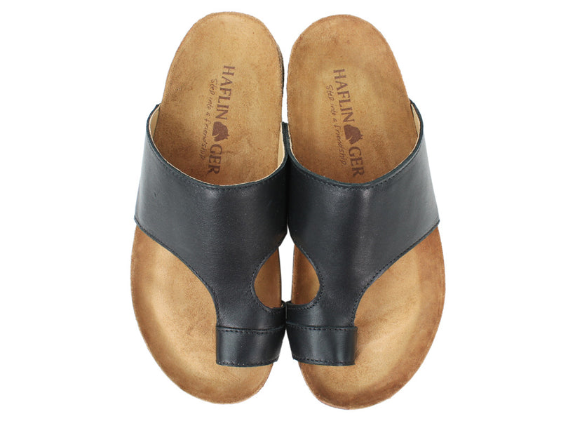 Haflinger Sandals Anka Black upper view