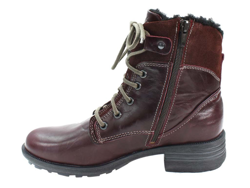 Josef Seibel Boots Sandra 83 Bordo in side view