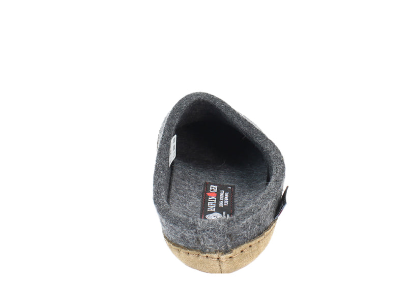 Haflinger Felt Slippers Emil Anthracite back view