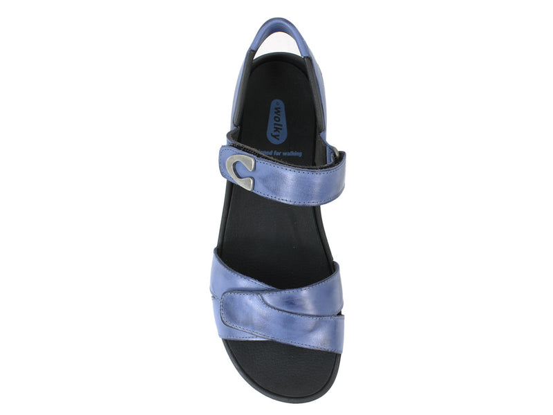 Wolky Women Sandals Epoch Royal Blue top view