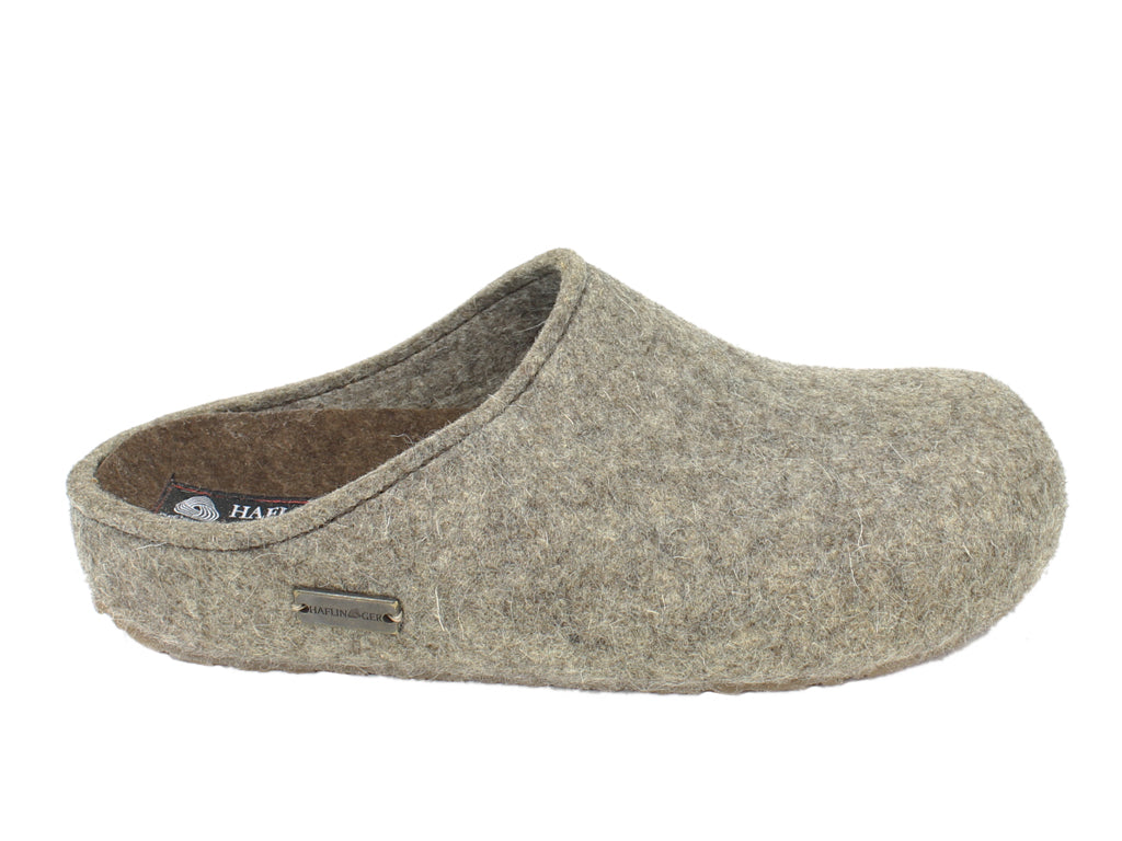 Haflinger Clogs Grizzly Michl Torf side view