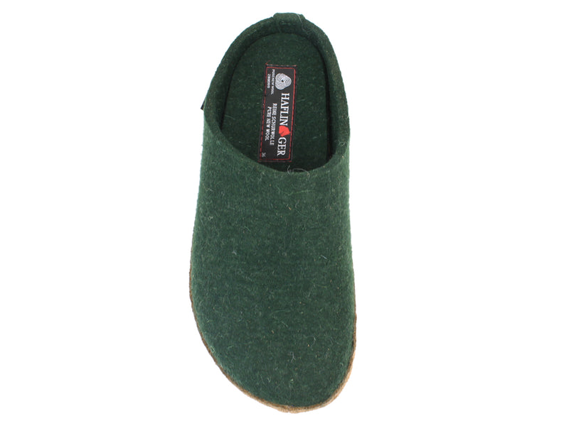 Haflinger Felt Slippers Emil Green top view