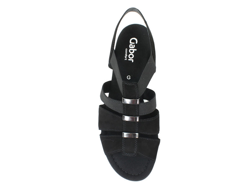Gabor Women Sandals Joan 42.472 Black top view