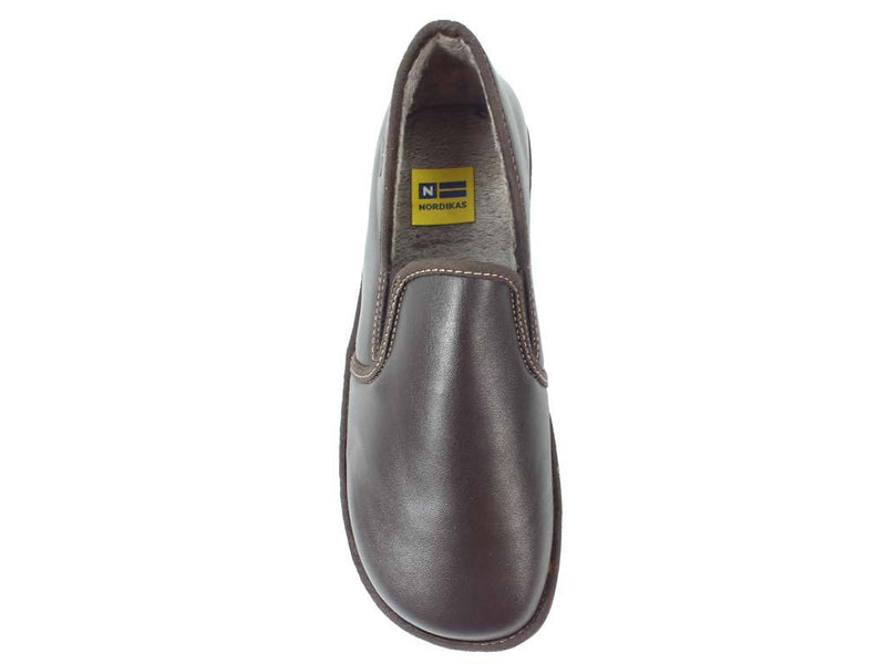 Nordikas Men Slippers Closed Moka top view