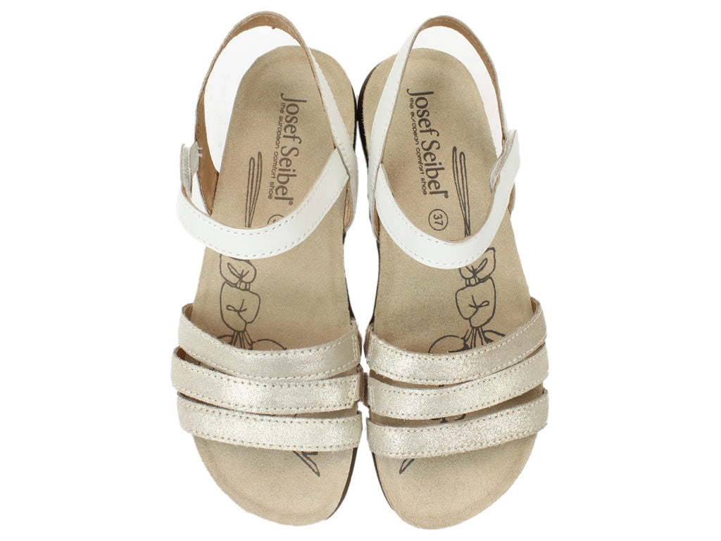 Josef Seibel Sandals Riley 01 Sand UPPER VIEW