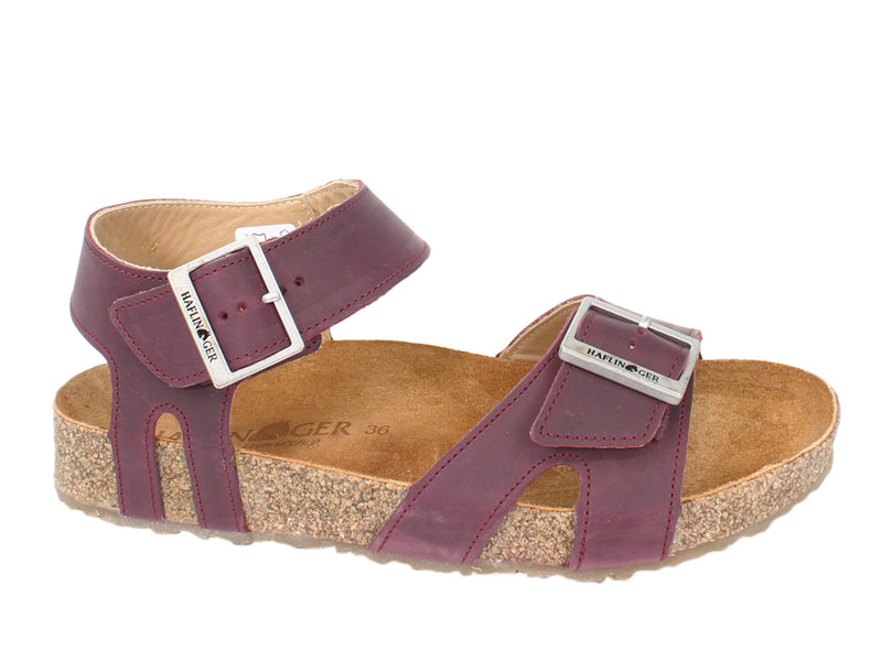 Haflinger Sandals Rebecca Bordeaux side view