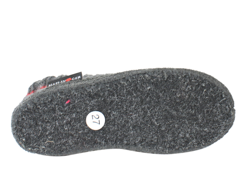 Haflinger Children's slippers Kisses Anthracite SOLE VIEW