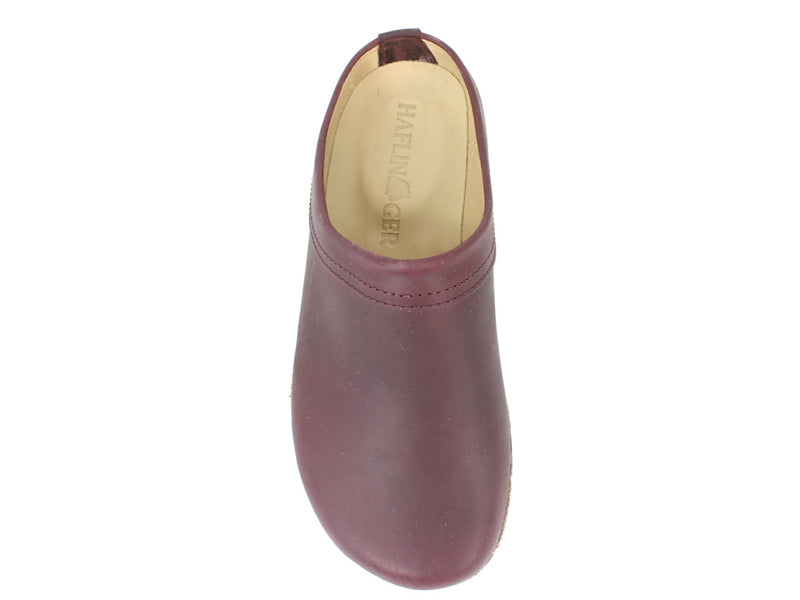 Haflinger Clogs Malmo Bordeaux top view