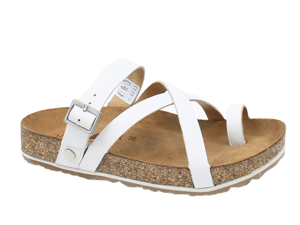 Haflinger Sandals Luna White side view