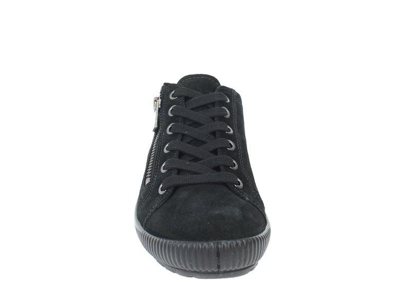 Legero Trainers Tanaro 00616 Black zip front view