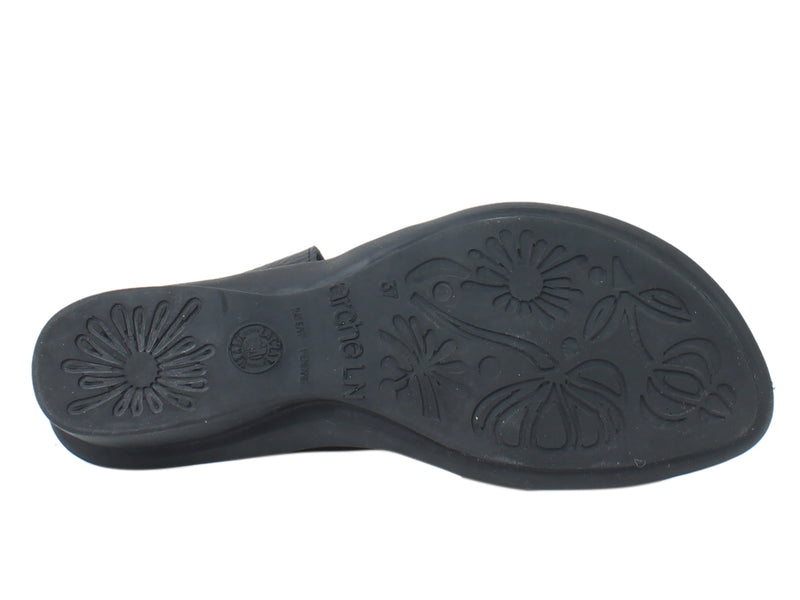 Arche Sandals Satana Black sole view