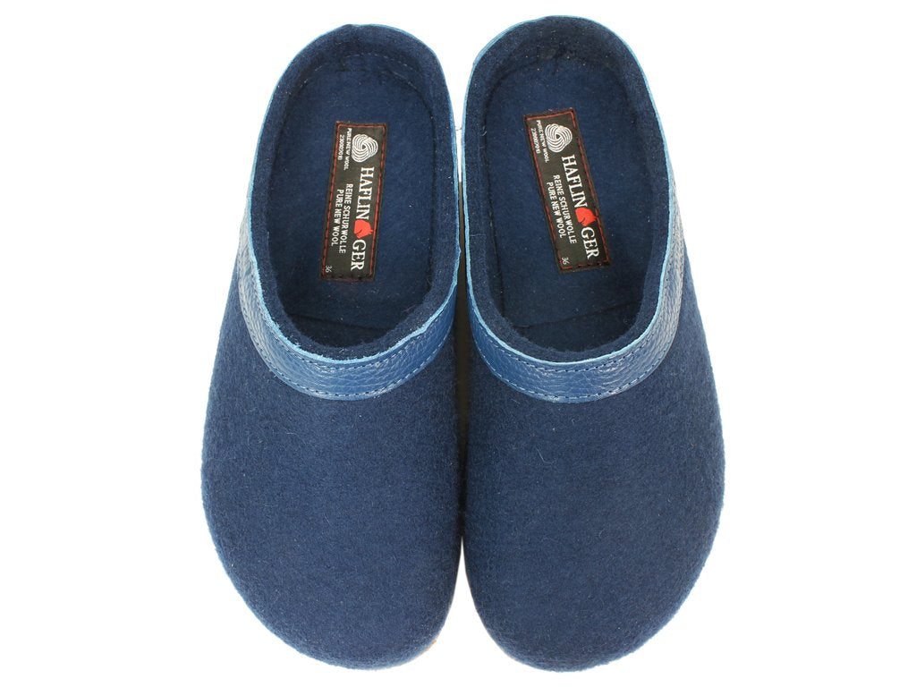 Haflinger Felt Clogs Grizzly Torben Kaskade upper view
