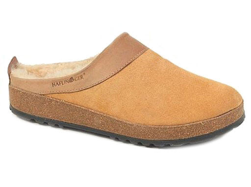 Haflinger Sheepskin Snowbird Clogs Natural
