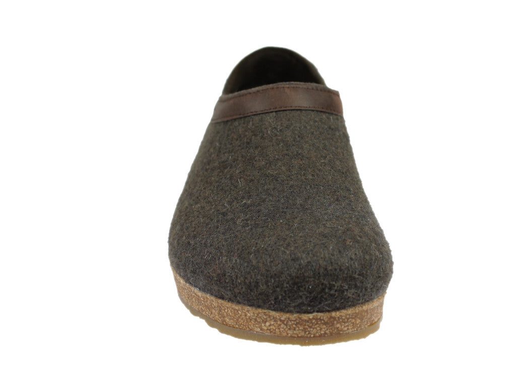 Haflinger Buffalo Felt Clogs Brown