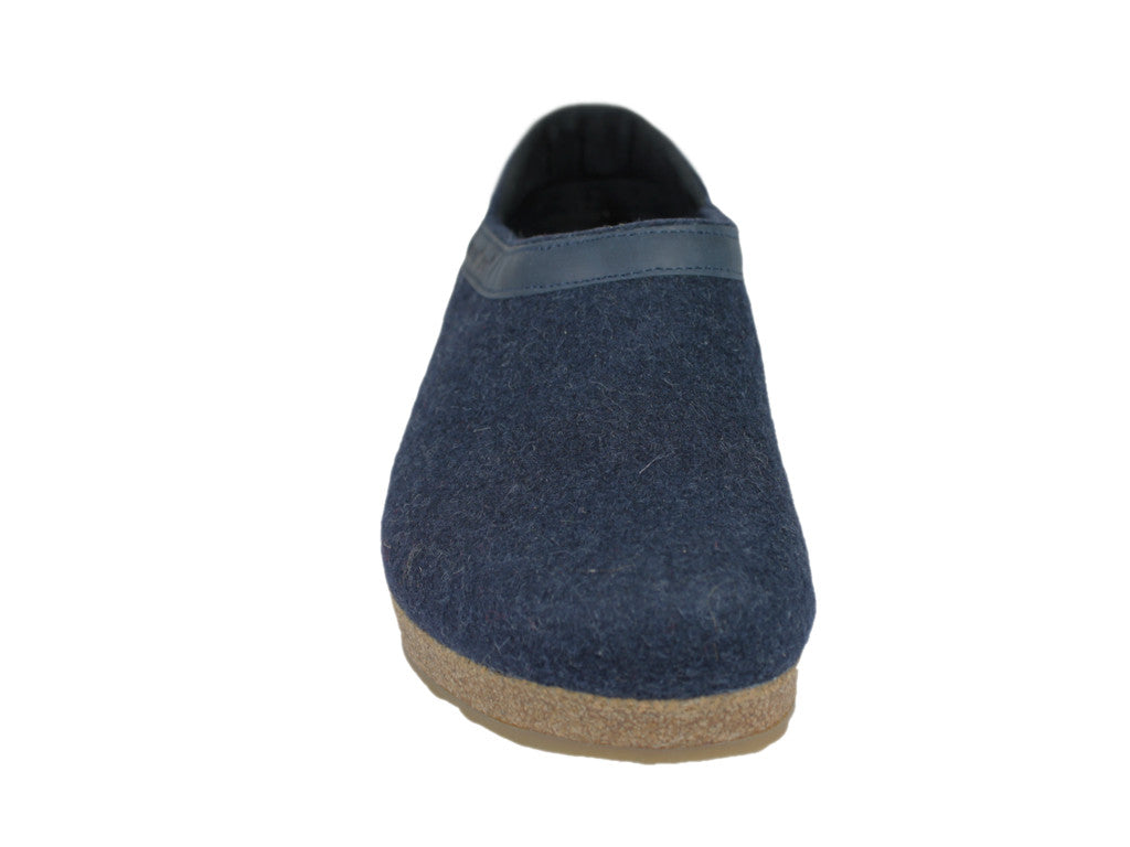 Haflinger Buffalo Felt Clogs Navy