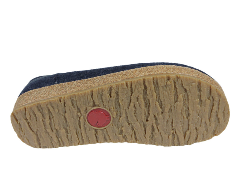 Haflinger Clogs Grizzly Buffalo Navy