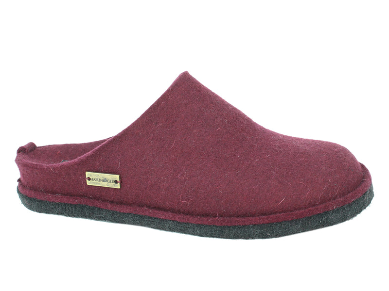 Haflinger Slippers Flair Soft Bordeaux side view