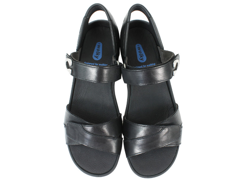 Wolky Women Sandals Epoch Black upper view