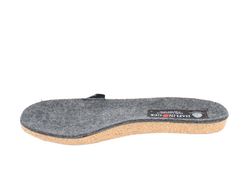 Haflinger Felt Slippers Emil Anthracite footbed