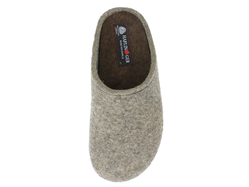 Haflinger Clogs Grizzly Michl Torf front view