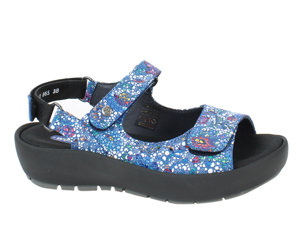 Wolky Women Sandals Rio Mosaic Royal Blue side view