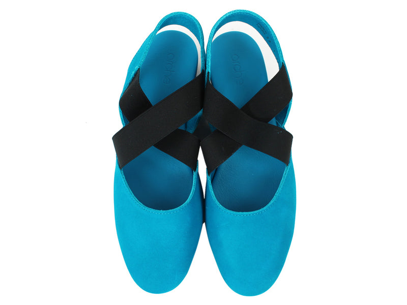 Arche Women Sandals Labana Nayati Blue upper view