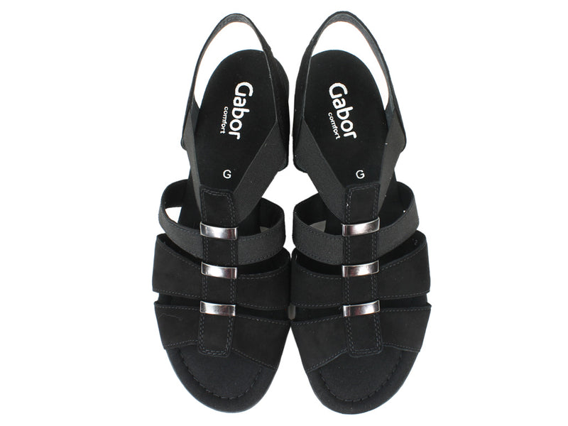 Gabor Women Sandals Joan 42.472 Black upper view