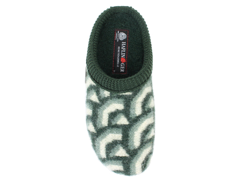 Haflinger Slippers Everest Cascade Kiwi top view