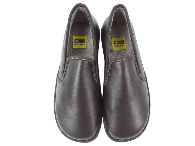 Nordikas Men Slippers Closed Moka upper view