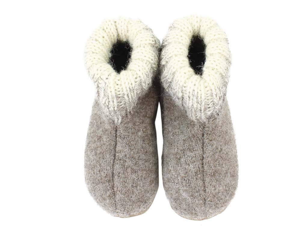Haflinger Children's slippers Iris Beige upper view