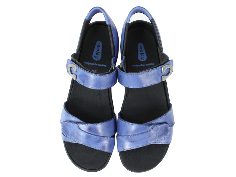 Wolky Women Sandals Epoch Royal Blue upper view