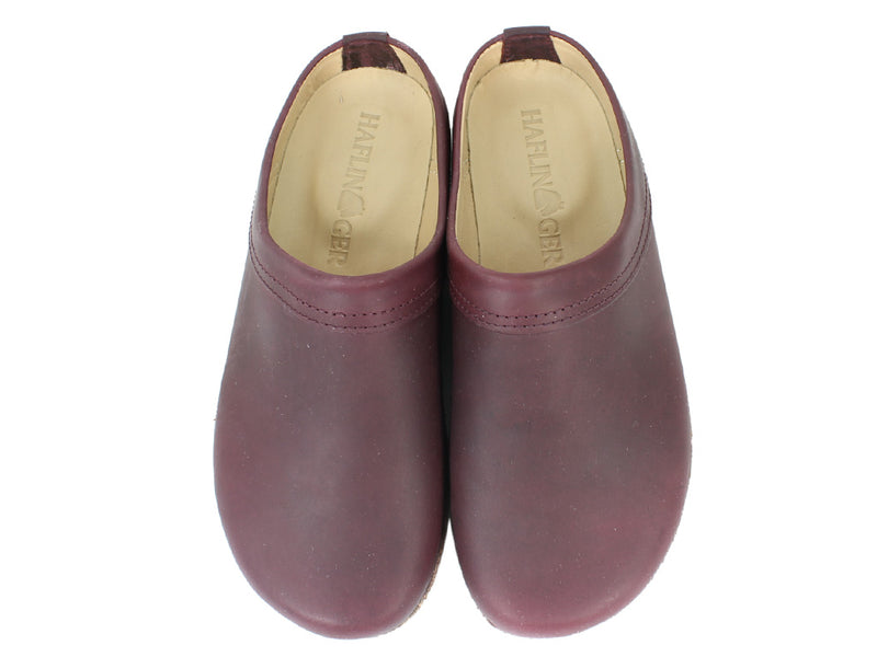 Haflinger Clogs Malmo Bordeaux upper view