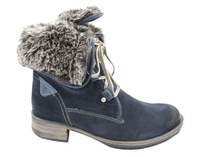 Josef Seibel Boots Sandra 04 Denim side view top down