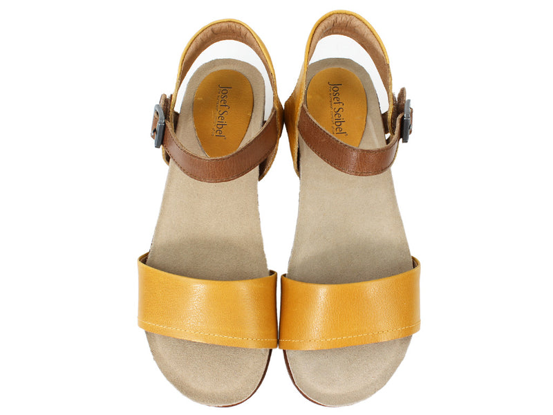 Josef Seibel Sandals Clea 01 Gelb Yellow upper view