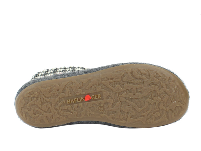Haflinger Slippers Everest Marigold Anthracite sole view