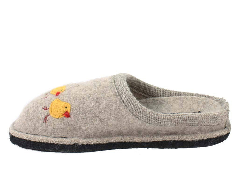 Haflinger Slippers Flair Hen Brown side view