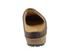 Haflinger Leather Clogs Esbjerg Brown back view