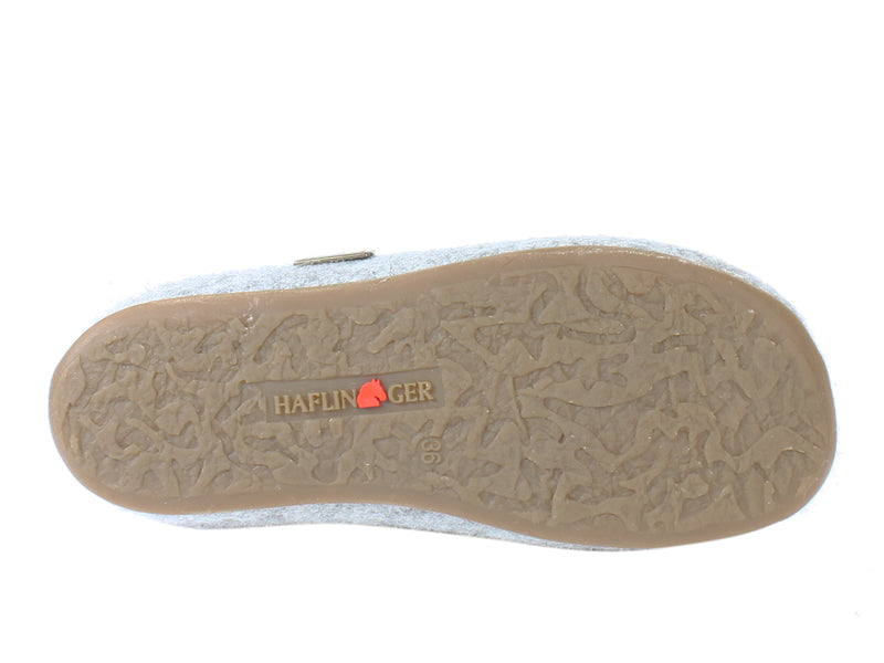 Haflinger Slippers Everest Bees Light Grey sole view