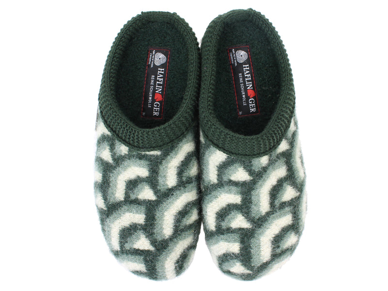 Haflinger Slippers Everest Cascade Kiwi upper view