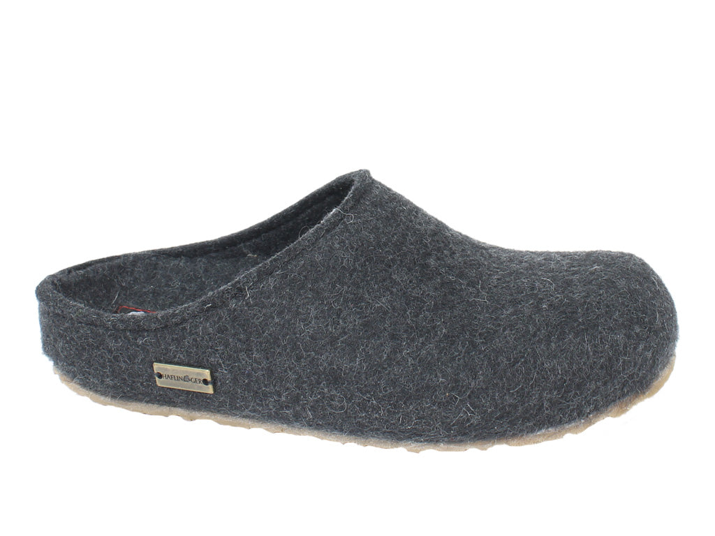 Haflinger Unisex Clogs Grizzly Michl Graphite side view