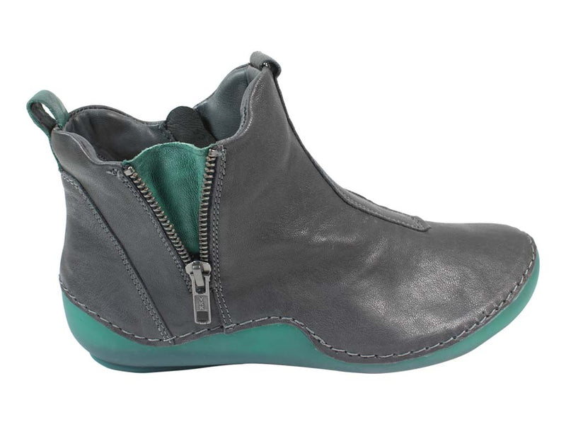 Think Boots Kapsl 85067-21 Vulcano Grey outside zip view