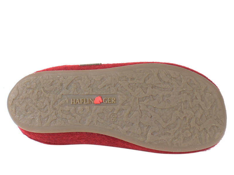 Haflinger Slippers Everest Bees Rubin sole view