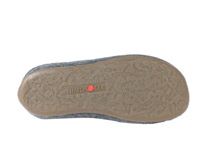 Haflinger Slippers Everest Bees Anthracite sole view