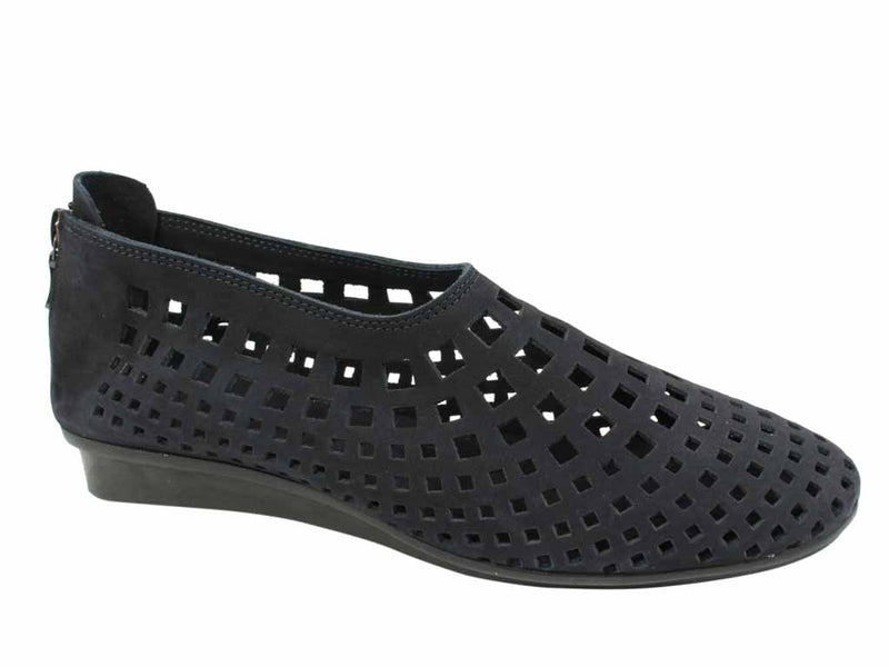 Arche Women Shoes Nirick Nuit Navy side view