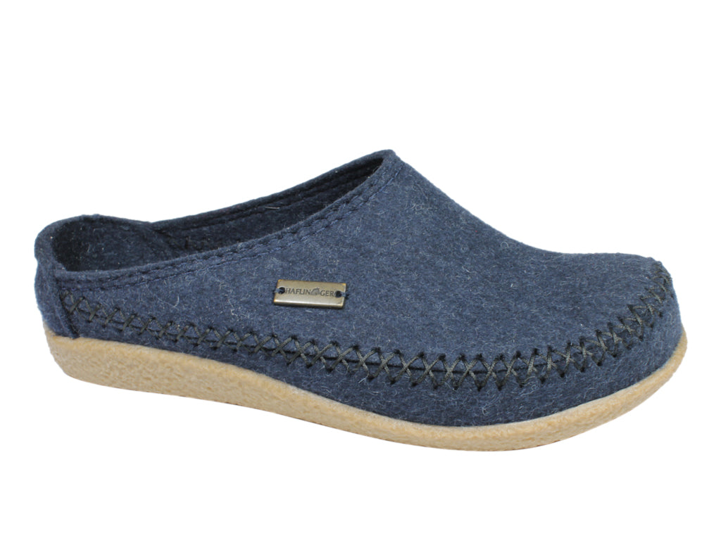 Haflinger Slippers Blizzard Credo Kapitan Blue