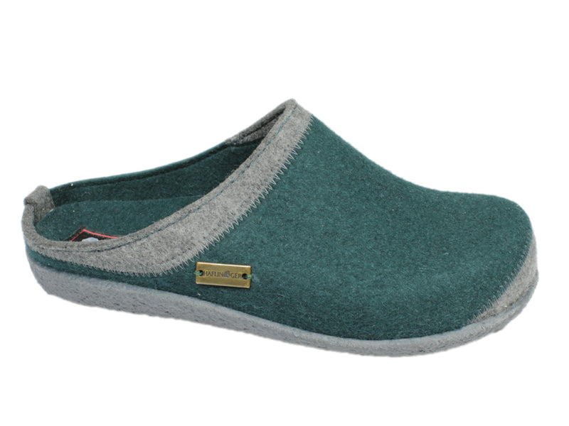 Haflinger Slippers Blizzard Flax Teal