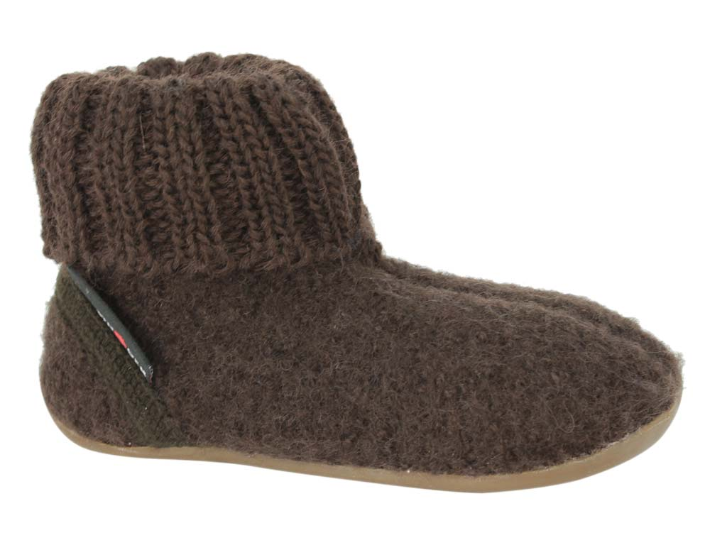 Haflinger Children's slippers Karlo Brown side view