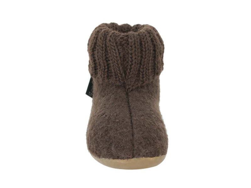 Haflinger Children's slippers Karlo Brown front view