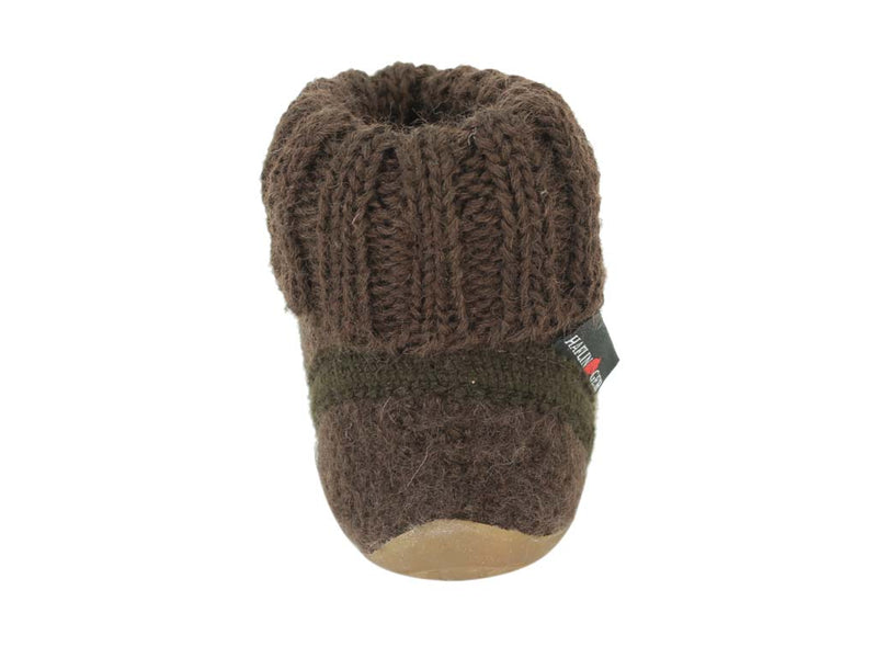 Haflinger Children's slippers Karlo Brown back view