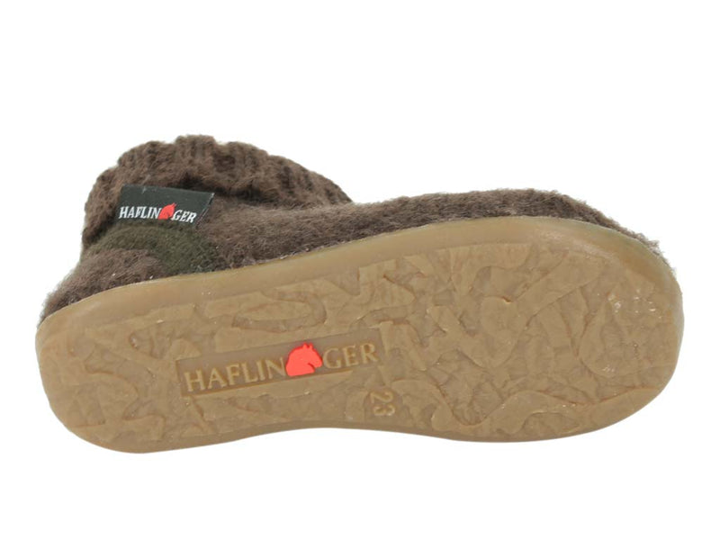 Haflinger Children's slippers Karlo Brown sole view